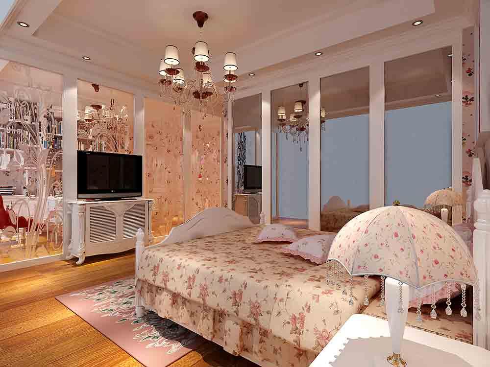 浪漫欧式精致华丽卧室装潢图片