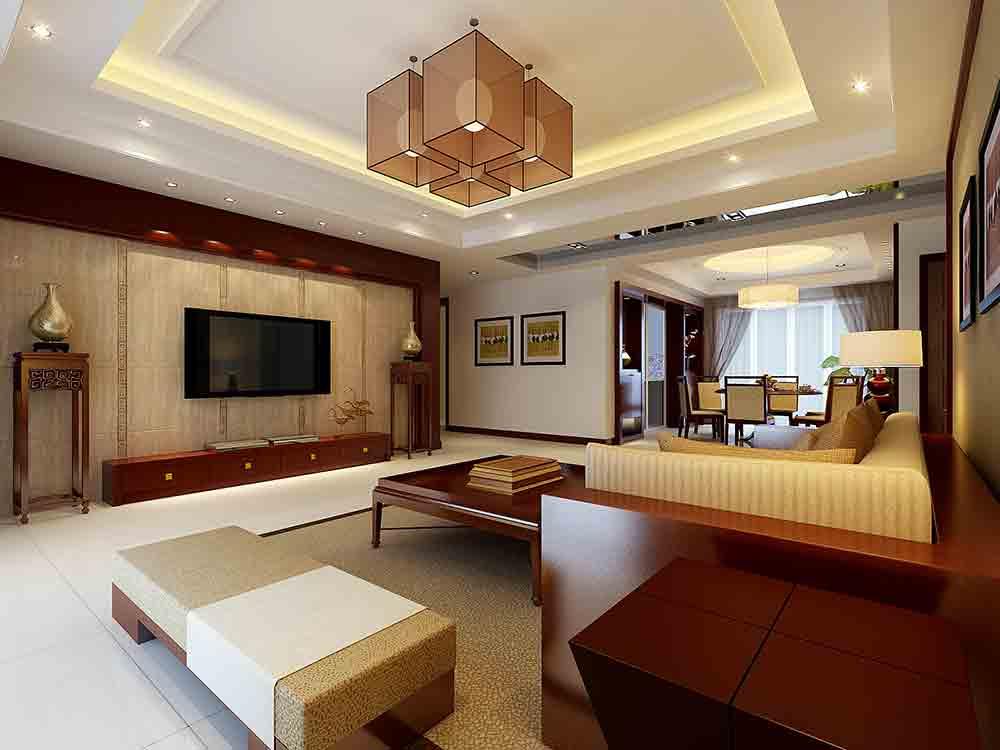 中式风格简约客厅设计案例
