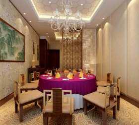 中式唯美餐厅装修效果图片