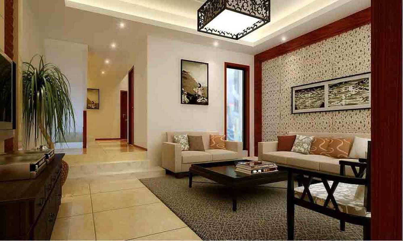 中式客厅装修整体效果欣赏