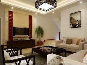 2015大气复式中式客厅装修案例