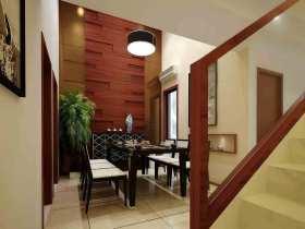2015中式风格别墅餐厅简约设计