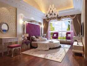 新古典主义风格梦幻紫色卧室装修案例欣赏
