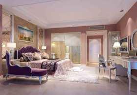 浪漫紫色新古典主义卧室装修设计图片
