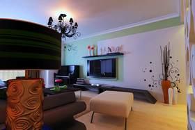 简欧基调唯美电视背景墙设计图片