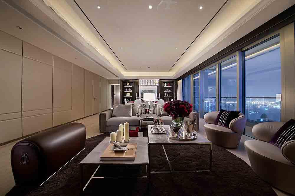 现代设计高端品质客厅装修整体效果图