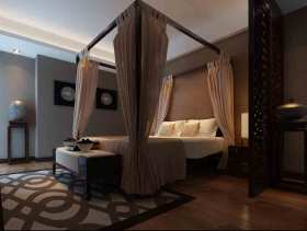 中式风格静谧文艺卧室装修图片欣赏