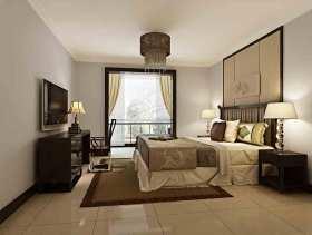 雅致灰色系中式风格卧室装潢图片