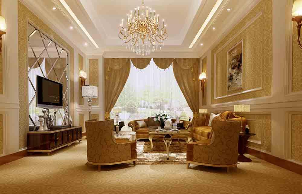 欧式精致华美客厅装修设计图片图片