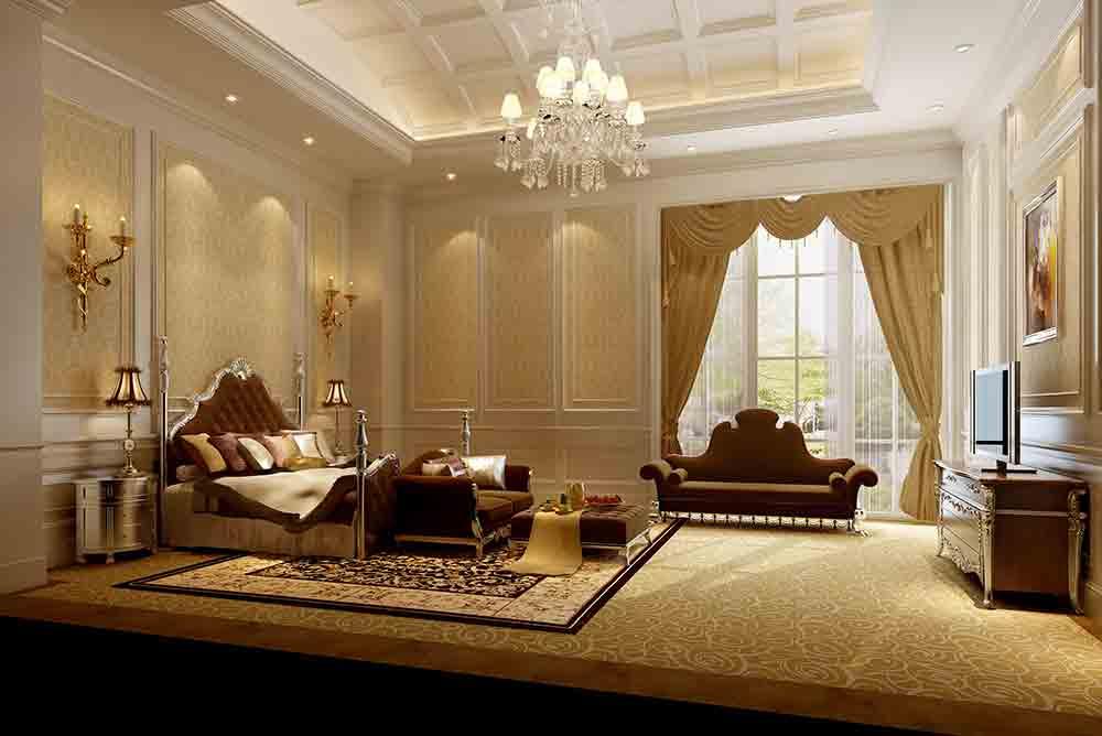 欧式高端别墅卧室设计案例