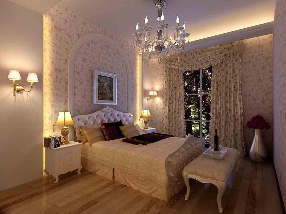欧式公主房风格卧室装潢案例欣赏