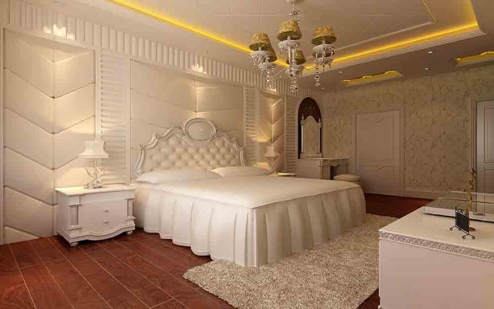 欧式大气奢华白色主题卧室装修案例