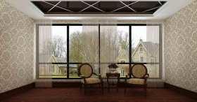 新古典风格透明轻盈窗帘装潢设计