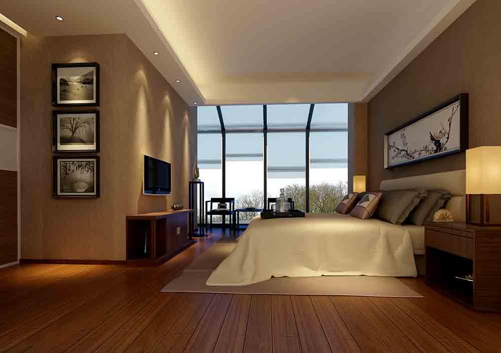 中式深沉暖色系卧室装修设计效果图片