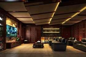 中式风格深沉大气观影厅设计欣赏