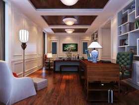 新中式风格书房多功能设计