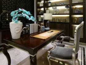 混搭中式风格雅致书房设计