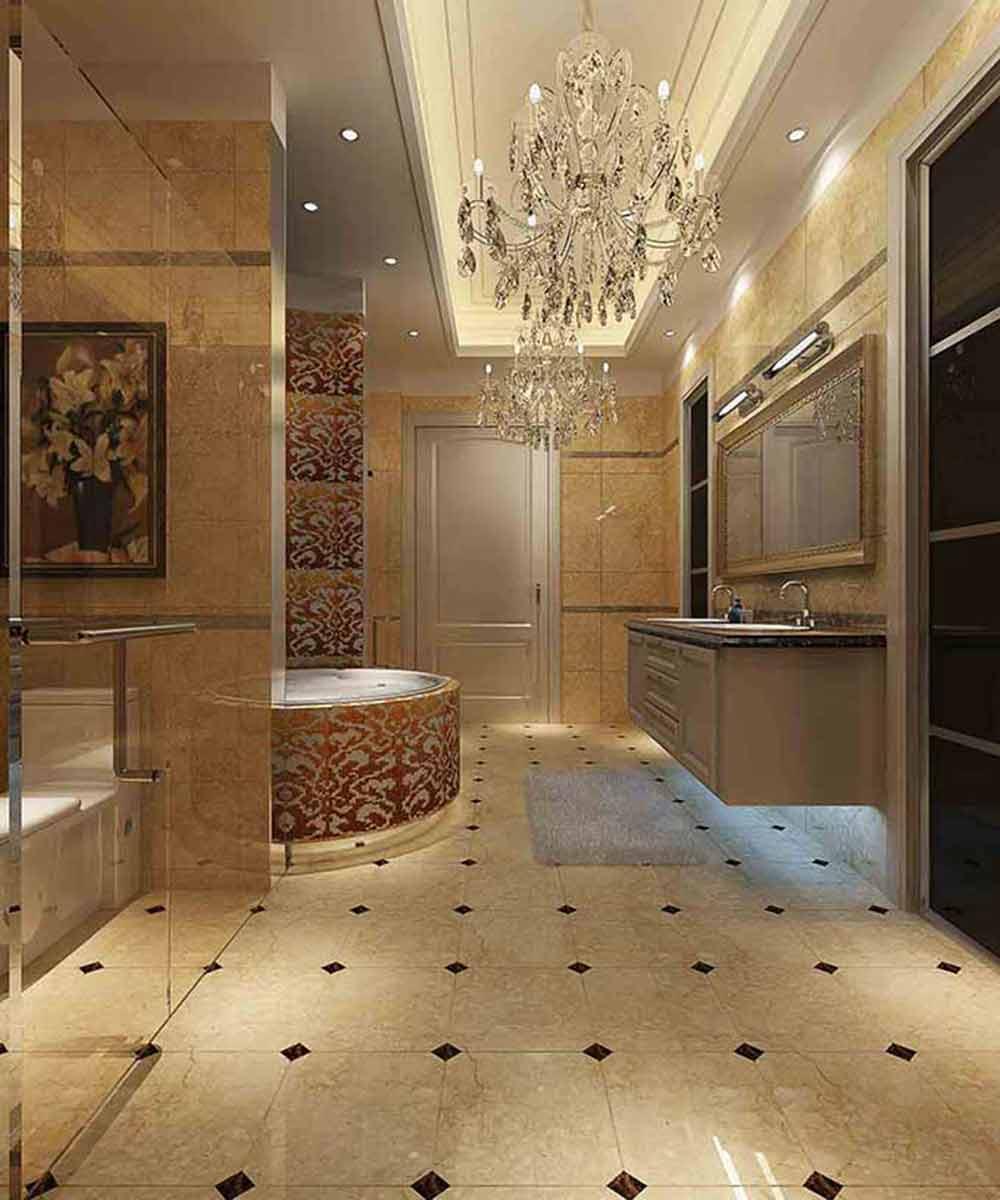 欧式华丽卫生间全景设计图片