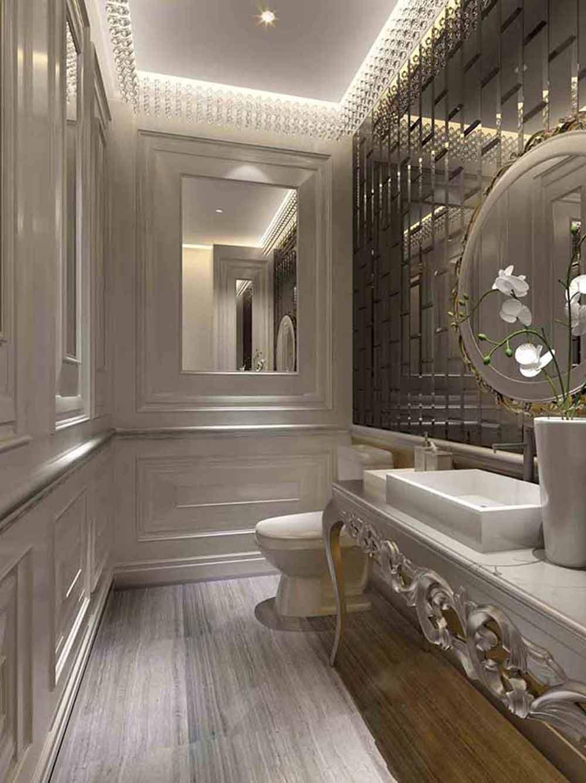 新古典主义精致卫生间装潢设计图片-兔狗装修效果图