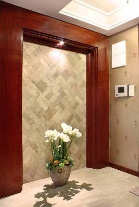 美式风格天然材质背景墙装饰