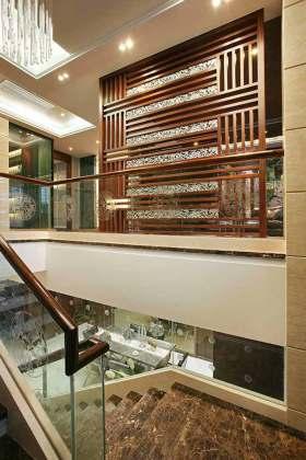 中式风格别墅玄关整体设计图片欣赏