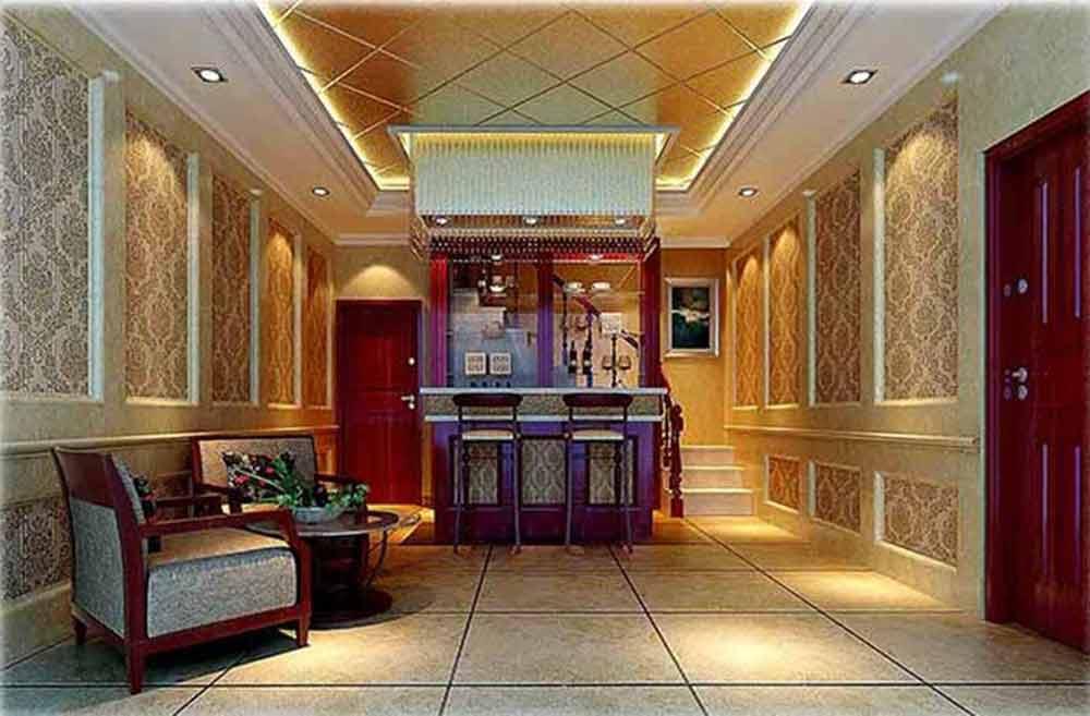 欧式经典色彩客厅装修效果图图片