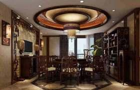 中式大家庭餐厅装修效果图