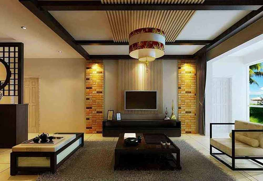 装修美图 中式风格客厅装修实例精选  免费户型设计 3家优质装修公司