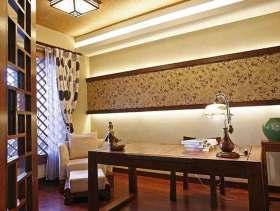中式黄色书房装潢布置