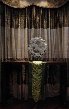 美式深色布艺窗帘装潢装饰