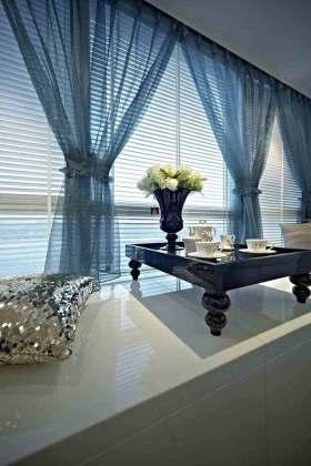 中式蓝色飘窗装潢
