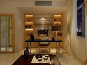 新中式黄色书房装修设计