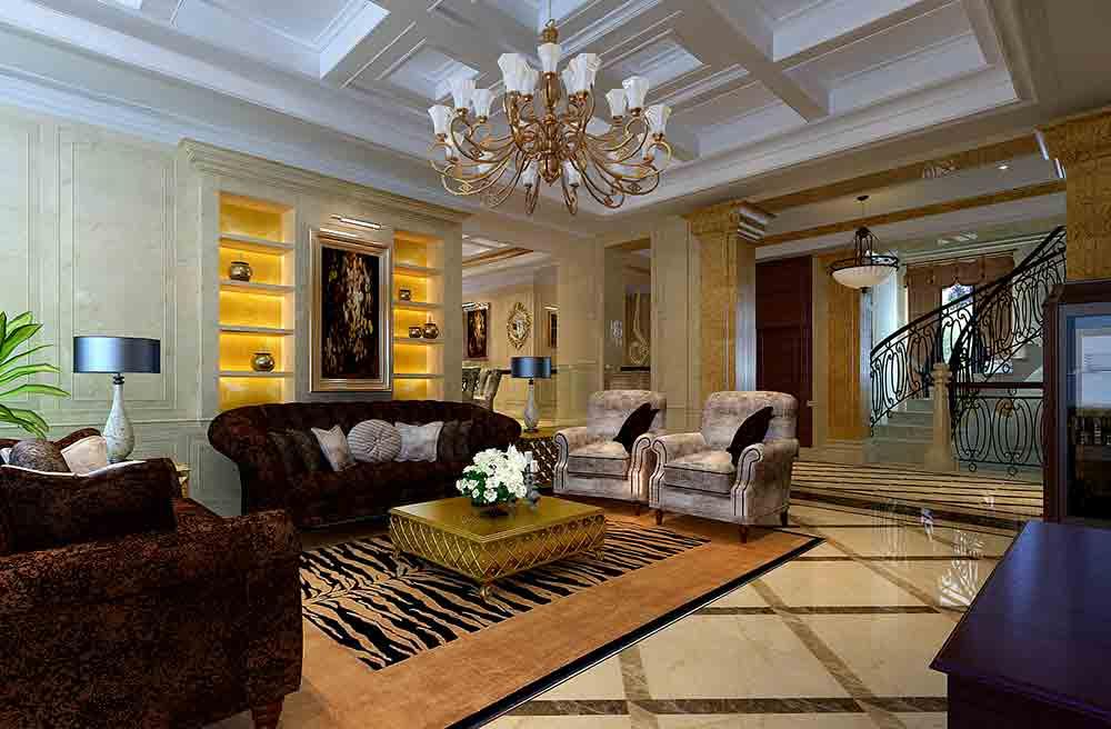 欧式大气客厅装饰布置