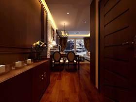 中式原木色稳重过道装修装饰