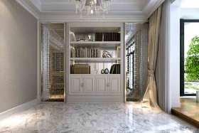 简欧纯白色精致书房装潢设计