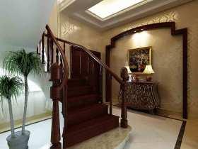 中式红木楼梯欣赏