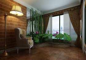 美式土黄色阳台设计效果图