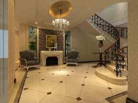 新古典精致雕花楼梯装潢