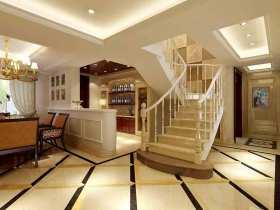 简欧白色蜿蜒楼梯设计图片