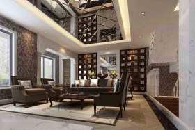 新古典高冷客厅设计效果图