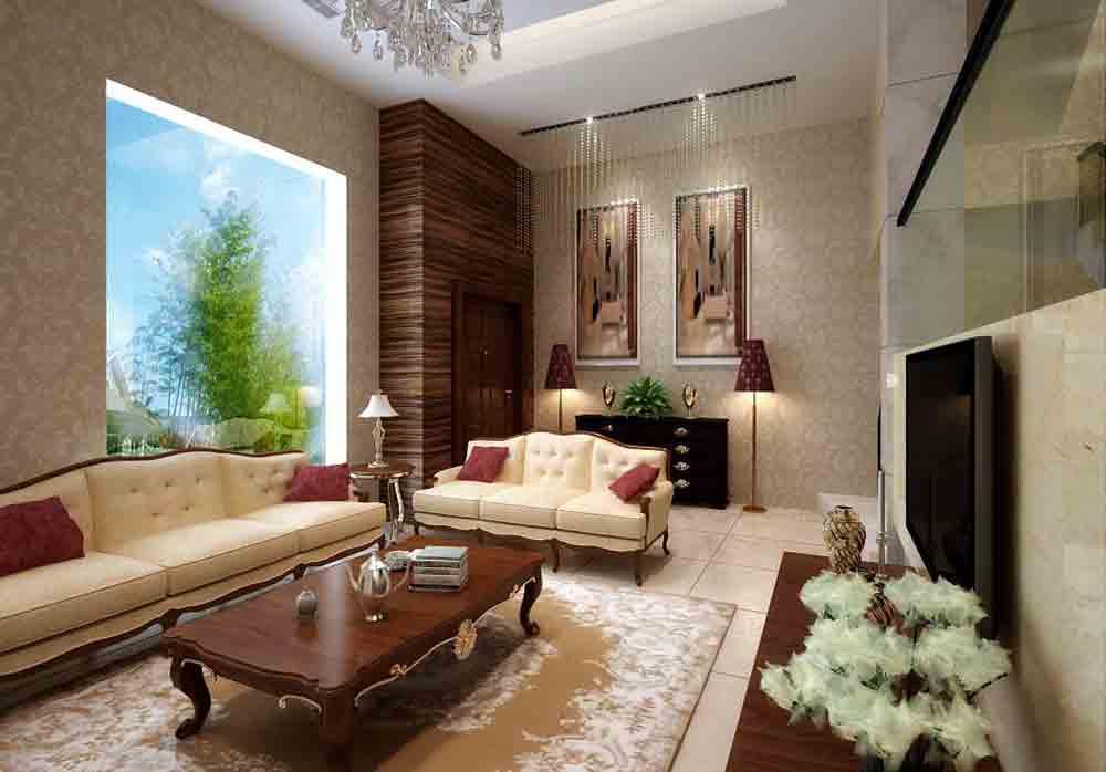 欧式雅致客厅装修布置