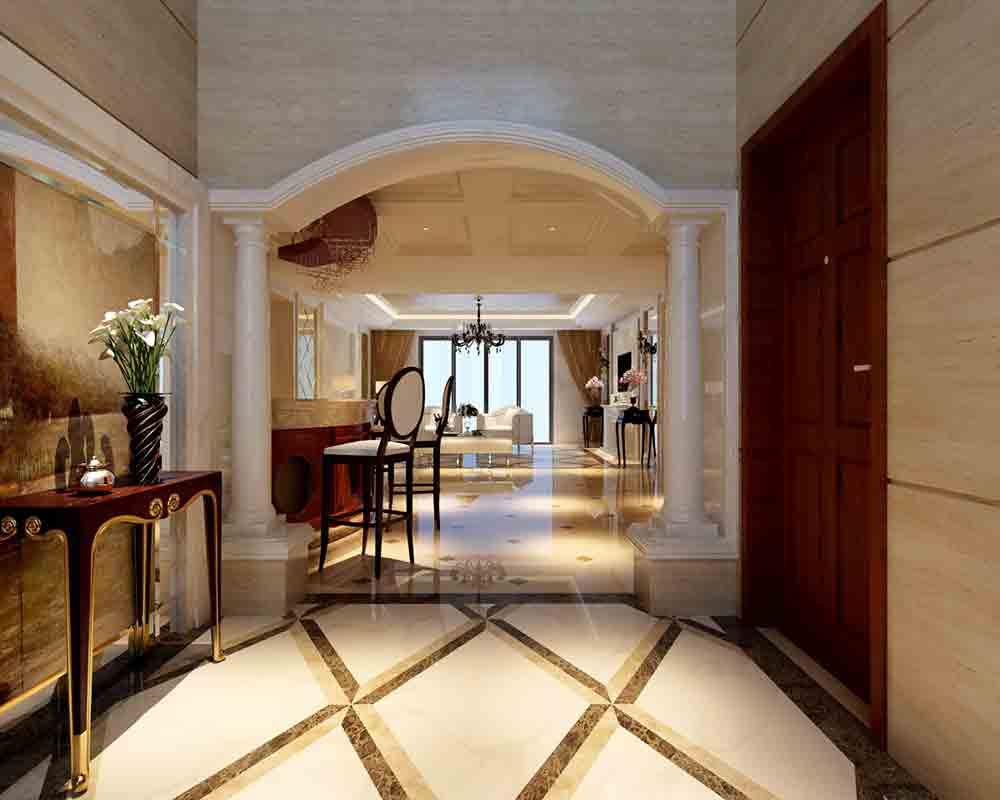 欧式拱门效果图_家装过道拱门造型图片,室内过道圆拱门图片,欧式拱门过道_大 ...