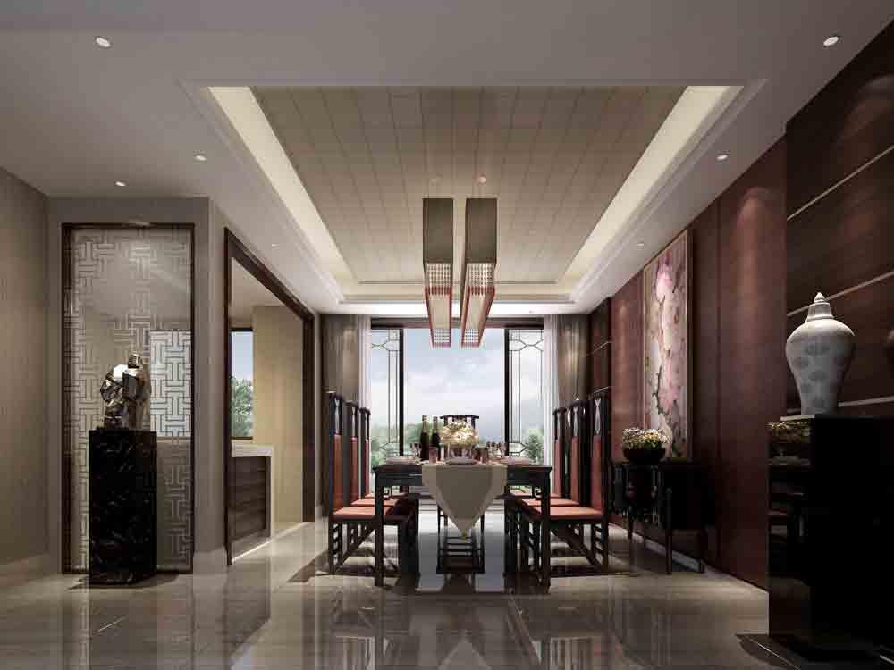 装修美图 中式餐厅装修设计图  免费户型设计 3家优质装修公司免费帮