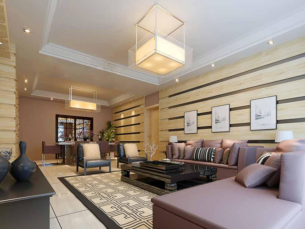 现代中式风格设计客厅装修效果图图片