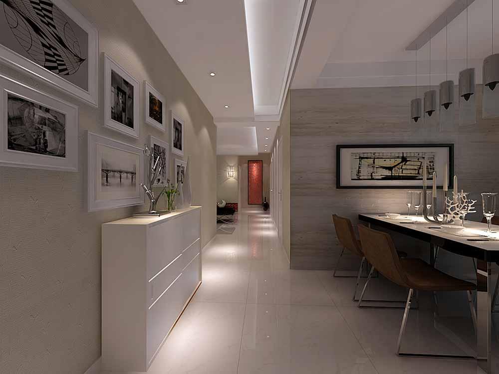 装修美图 现代极简过道设计图欣赏  免费户型设计 3家优质装修公司