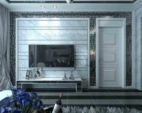 新古典装修现代客厅电视背景墙