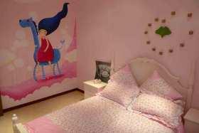 粉色公主儿童房装修案例欣赏