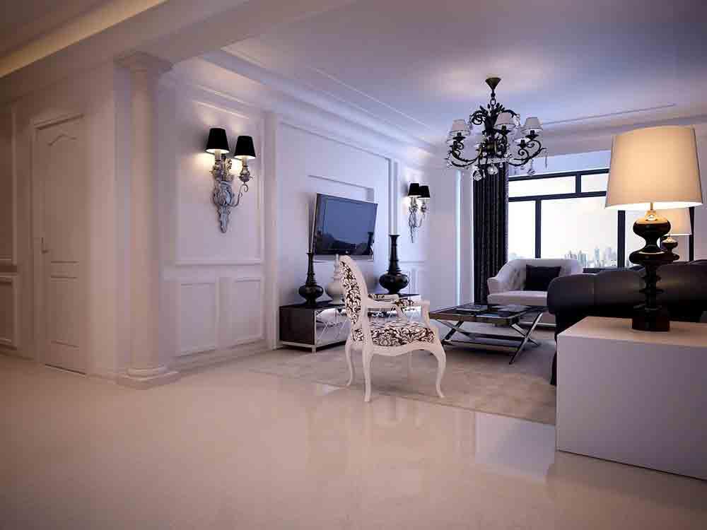 装修美图 简欧朴质客厅装修效果展示  免费户型设计 3家优质装修公司