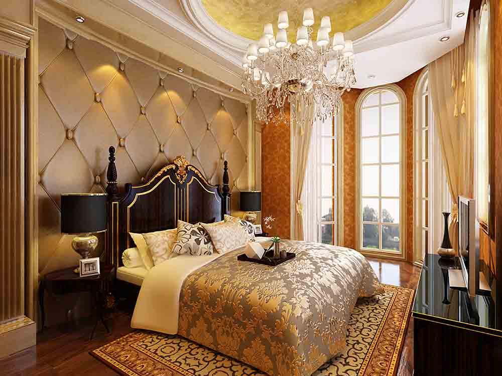 奢华欧式卧室装饰布置效果图图片