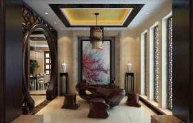 中式休闲茶室设计效果图